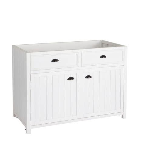 image meuble de cuisine meuble bas de cuisine en pin blanc l 120 cm newport