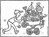 Flea Kiddicolour Rommelmarkt Brocante Market Colouring Kiddimalseite Flohmarkt Weg Dem Zum Naar Kiddicoloriage Drawing Tekening Template Dessin Kleurplaat Coloring Kleurprenten sketch template