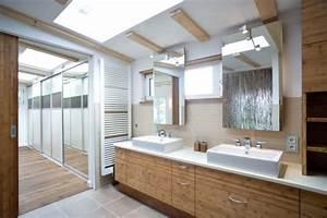 Badezimmer Unterschrank Holz : badezimmer rustikal oberlicht holz waschtisch unterschrank doppelwaschtisch haus pinterest ~ One.caynefoto.club Haus und Dekorationen