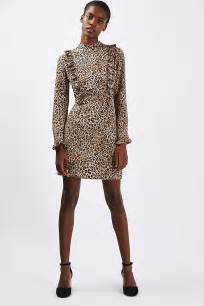 leopard print ruffle dress topshop usa