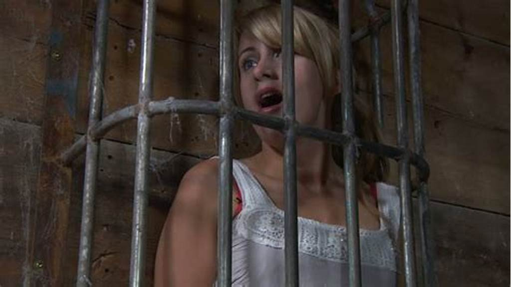 #Salty #Blond #Cutie #Gets #Naked #Inside #A #Metal #Cage #In #Bdsm