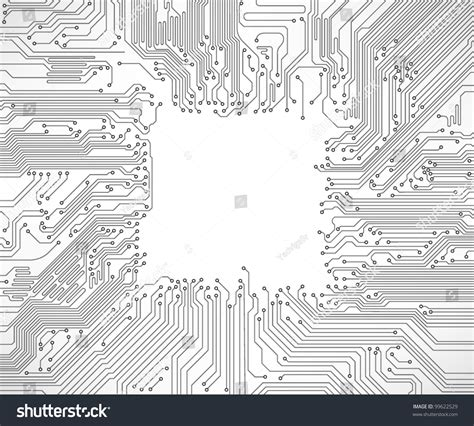 Circuit Board Background Vector Stock
