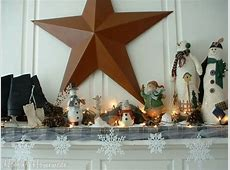 How to decorate your Mantle for Winter Hoosier Homemade