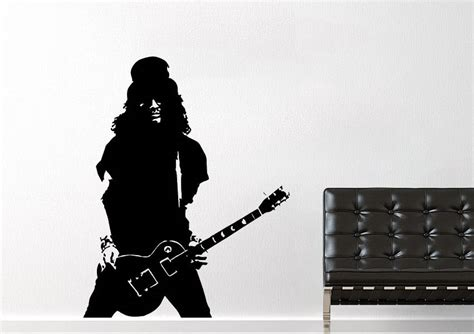 slash guitar people wall stickers adhesive wall sticker