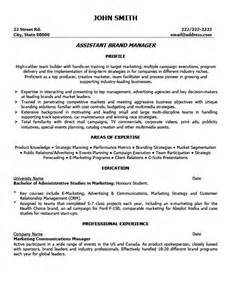 assistant brand manager resume cover letter assistant brand manager resume template premium resume sles exle