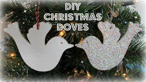 diy christmas dove christmas tree decorations