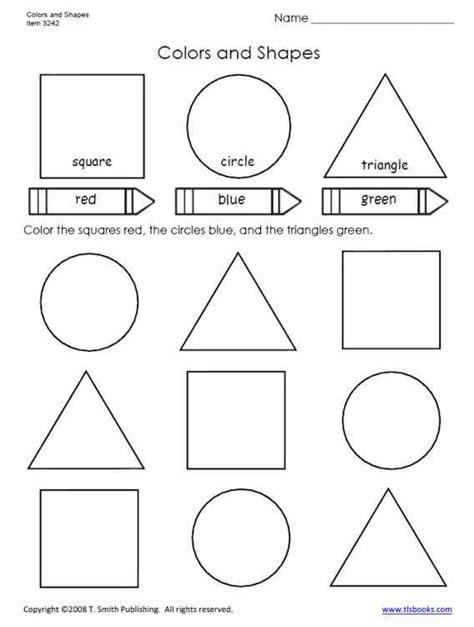 7 best images of shapes worksheets grade 1 color shapes