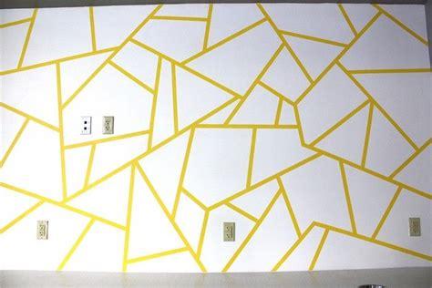 geometric triangle wall paint design idea  tape