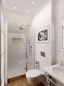 Diseno de banos blancos for Small bathroom big or small tiles