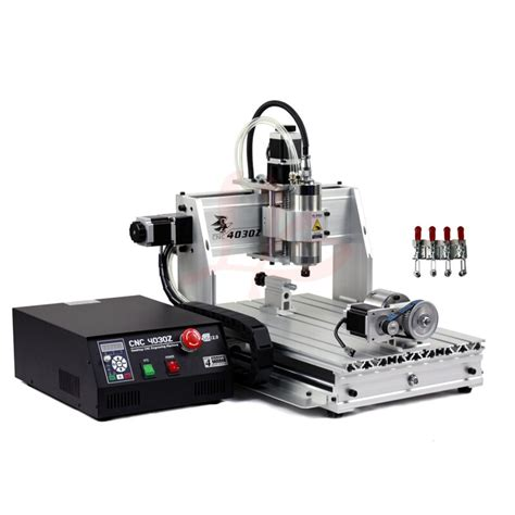 4axis mini cnc router 3040 800w vfd water cooled spindle pcb engraver machine for 3d metal