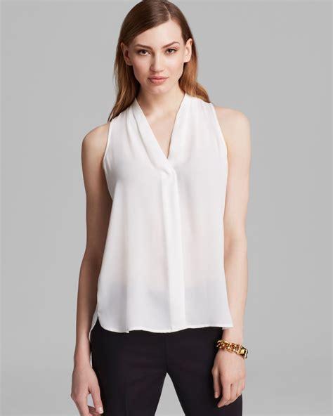 v neck blouses vince camuto sleeveless v neck blouse in white ivory