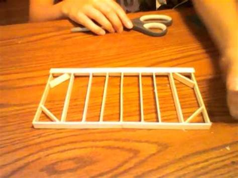 popsicle stick house tutorial  youtube