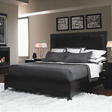 cymax bedroom sets gray bedding with black frames