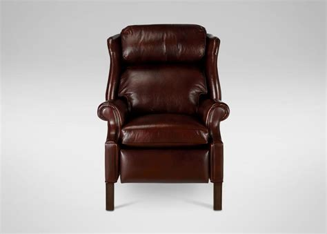 townsend leather recliner ethan allen