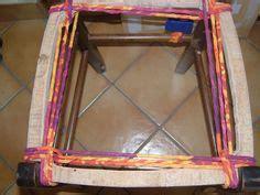 rempailler une chaise avec du tissu technique du rempaillage avec des bandes de tissu
