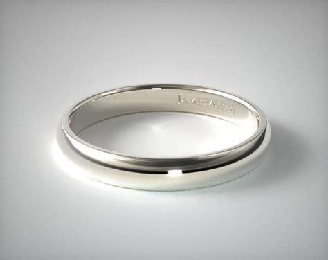 gold bracelets mens 4mm slightly domed comfort fit wedding ring 14k white