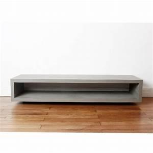 Meuble Tv Beton : meuble tv en b ton monobloc by ~ Teatrodelosmanantiales.com Idées de Décoration