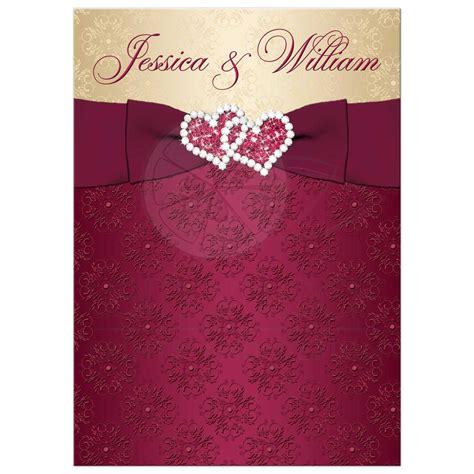 Wedding Invitations Burgundy And Gold