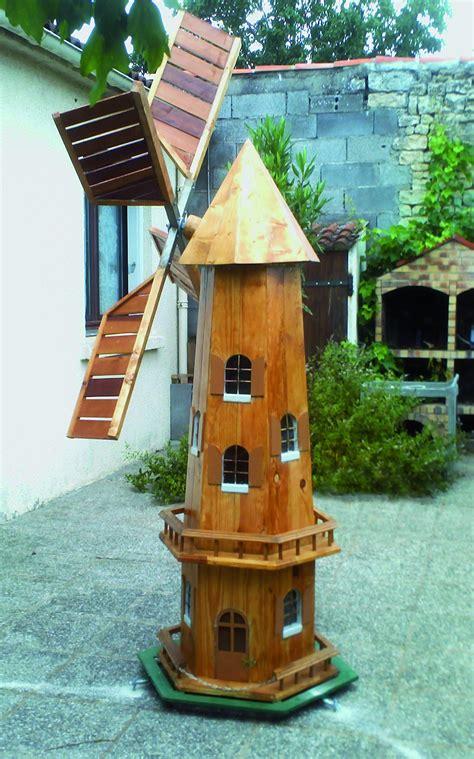 un moulin 224 vent pour le jardin bois le bouvet