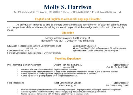 teaching experience molly harrison