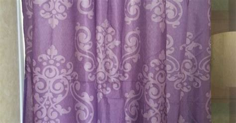 $6 shower curtain from Family Dollar. And it's purple