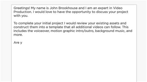 Bid Proposal Letter