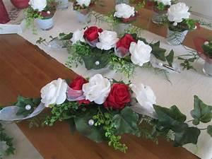 Deko Für Hochzeitstisch : tischdeko hochzeit ehrenplatz deko rosen foamrosen taufe kommunion rot weiss ebay ~ Markanthonyermac.com Haus und Dekorationen