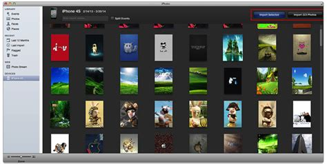 how to import photos from iphone to iphoto how to backup iphone roll to mac imac macbook