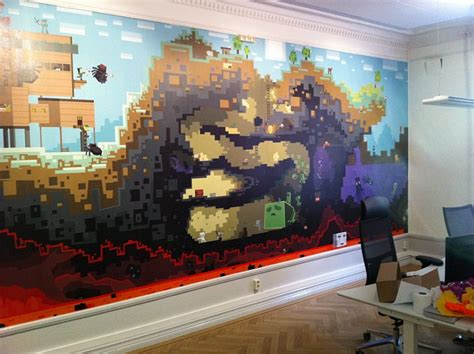minecraft bedroom wallpaper mojang office boards ie