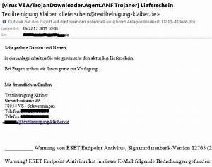 Textilreinigung Klaiber Lieferschein : vorsicht trojaner wenn die firmen mail von hackern gekapert wird impulse ~ Themetempest.com Abrechnung