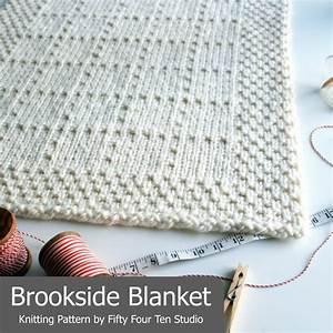 Brookside Blanket Knitting Pattern - New! | Pinterest ...