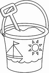 Bucket Shovel Coloring Pages Colouring Clipart Spade Pail Sand Sailship Decorated Template Drawing Printable Templates Sketch Well Popular Garden Tocolor sketch template