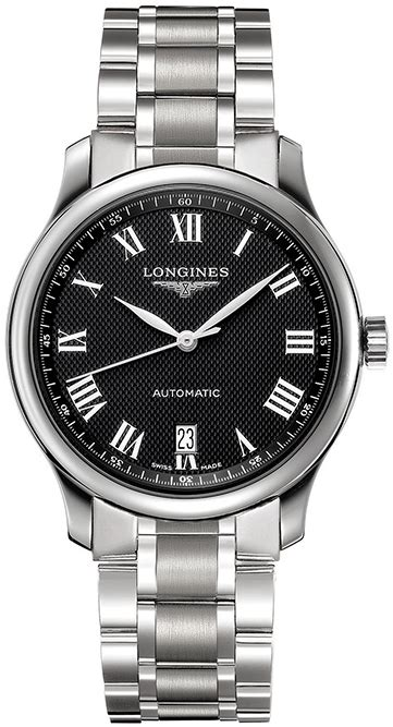 longines master collection mens steel
