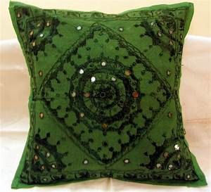 Embroidered Ethnic Indian Cushion Covers Decorated Toss