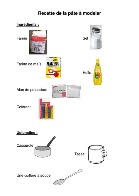 recette de cuisine belge pâte à modeler maman