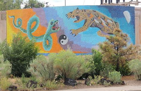 Snake Vs Cat Mural In Santa Fe  The Artsology Blog. Engineer Lettering. Mexican Style Murals. Vinyl Banner Cost. Press Murals. Where To Print Labels. General Signs. Bus Logo. Autism Symptoms Signs