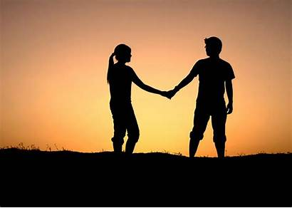 Marriage Couple Happy Holding Hands Mediation Clipart