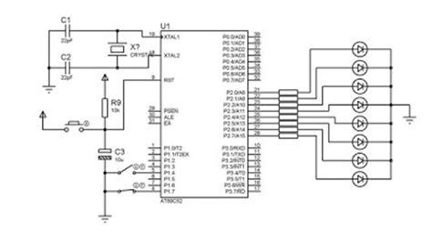 Microcontroller Projects Tutorials Chasing Led