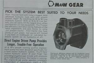 M U0026w Gear Live Hydraulic Pump Kit Brochure Ih Farmall Super