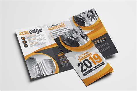 Tri Fold Brochure Template Marketing Seminar Tri Fold Brochure Template Psd Ai