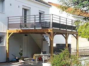 nivremcom terrasse bois surelevee kit diverses idees With terrasse metallique en kit