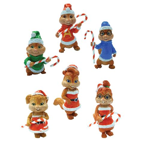 alvin and the chipmunks christmas ornament shop alvin and the chipmunks brown plastic chipmunks 6 mini ornament at lowes