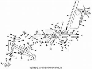 Gravely 50123 16hp  With Hydraulic Lift Parts Diagram For