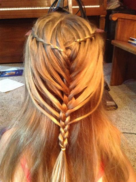 Waterfall twist into mermaid braid   My Hairstyles