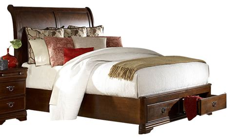 Homelegance Karla Platform Sleigh Bed With Storage