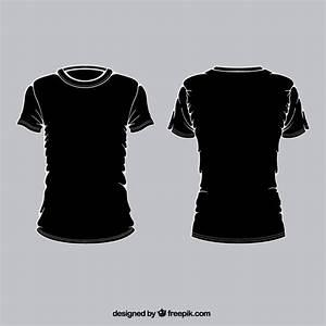 Camisetas negras Descargar Vectores gratis