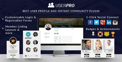 userpro community  user profile wordpress plugin