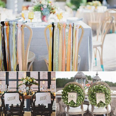 ideas for decorating wedding reception chairs
