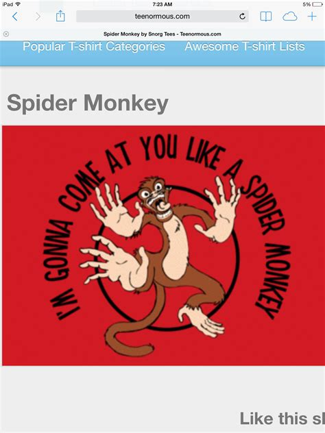 The ballad of ricky bobby quotes. Spider monkey quote   Spider monkey, Monkey t shirt, Funny ...