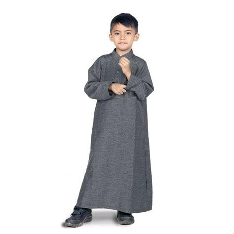 jual baju gamis anak laki laki gamis koko grey di